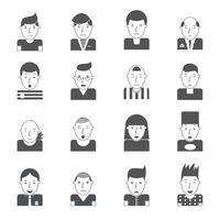 Man gezichten pictogrammen