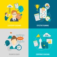 coaching bedrijfsflat vector