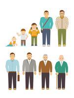 generatie mannen flat vector