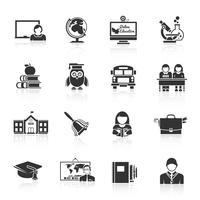 School pictogram zwart vector