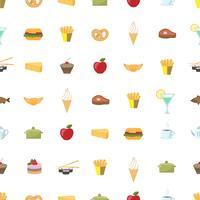 Voedsel patroon naadloze achtergrond vector