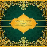 Sjabloon voor uitnodigingskaart in Arabische of islamitische stijl