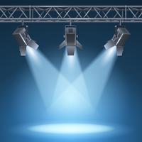 podium met lichten vector
