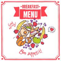 Ontbijt Sketch Menu