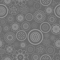 Donkere naadloze tandwielen patroon vector