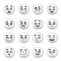 Smiley gezichten pictogrammen instellen vector