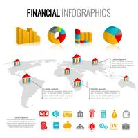 Financiële infographic set