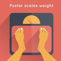 Poster schalen gewicht vector