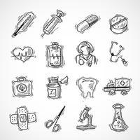 Medische en gezondheidszorg pictogrammen vector