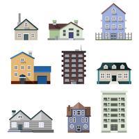 Residentiële huisgebouwen vector