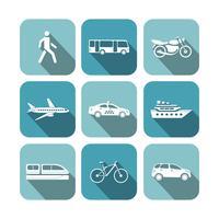 Vervoer pictogrammen instellen vector