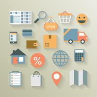 Interface-elementen voor internet-e-commerce vector