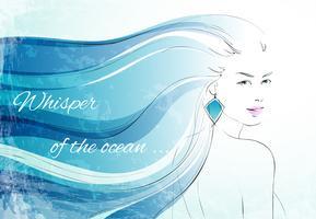 Fluister van de oceaanachtergrond