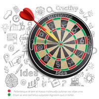Creatieve achtergrond met dartbord vector