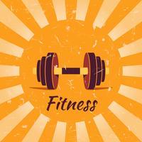 Vintage fitness poster achtergrond vector