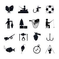 vissen pictogram zwart vector