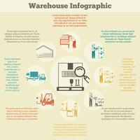 Magazijn Infographics Set vector