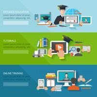 Online onderwijsbanner vector