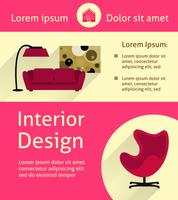 Modern interieur poster vector