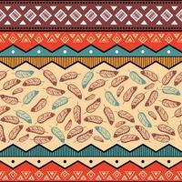 Etnische tribale patroonachtergrond vector