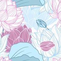 lotus naadloze patroon vector