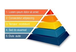 Piramidegrafiek voor infographics vector