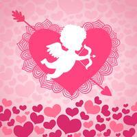 Valentijnsdag engel van de liefde vector