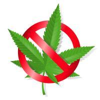 Stop met marihuanateken vector