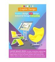 Industrieel ontwerp poster sjabloon vector