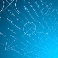 Wiskunde perspectief achtergrond vector