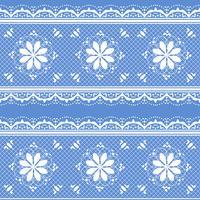 Bloemenkantpatroon voor ontwerp vector
