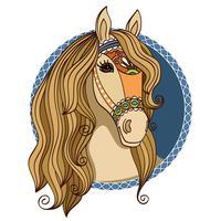 paardenkop vector