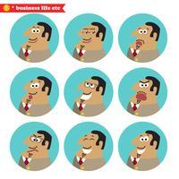 Boss gezichts emoties vector