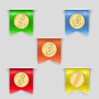 Cash pictogrammen instellen vector