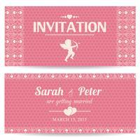 Valentijnsdag romantische uitnodigingskaart vector