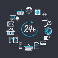 Internetwebsite winkel 24 uur geopend