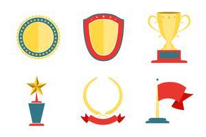 Badges-collectie belonen vector