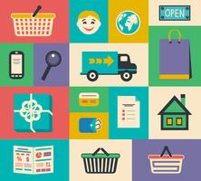 Set e-commerce interface-elementen vector