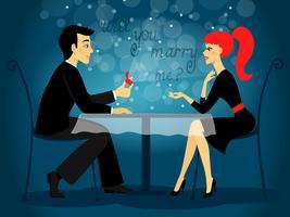 Wil je met me trouwen, huwelijksaanzoek vector