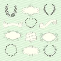 Bruiloft elementen instellen vector