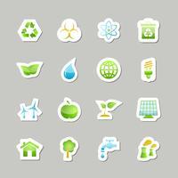 Eco groene pictogrammen instellen vector