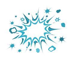 Retro burst-pictogram