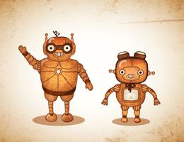 Hipster-vriendelijke robots vector