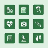 gezondheid pictogrammen instellen vector