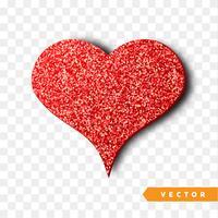 rood fonkelt hart