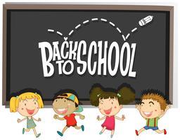 Terug naar schoolthema met kinderen