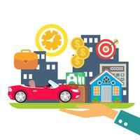 krediet leasing hypotheek vector