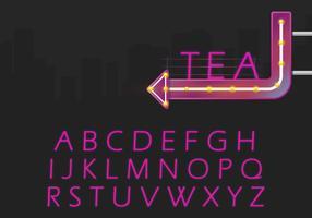 Retro alfabet ingesteld en Retro teken illustratie