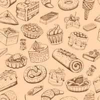 Naadloze zoete gebakjes