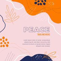 Kleurrijke abstracte achtergrond met Grunge-borstels